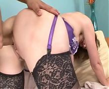 Hot mature fucked by young boy