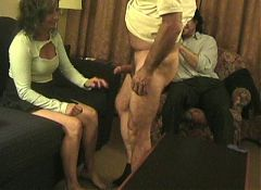 Husband films wife fucks with black guy