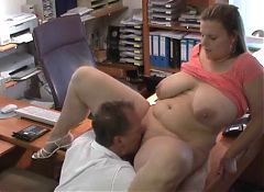 Slender mature milf with big saggy breasts fucked